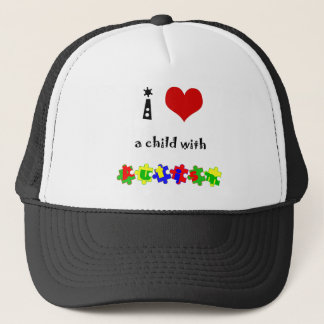 I Heart (Love) a Child with Autism Trucker Hat