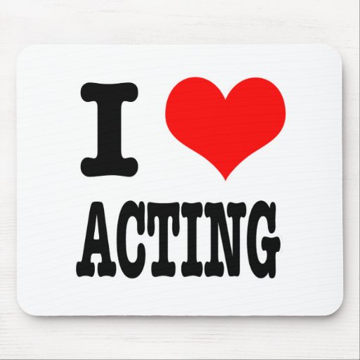 I HEART (LOVE) ACTING MOUSE PAD
