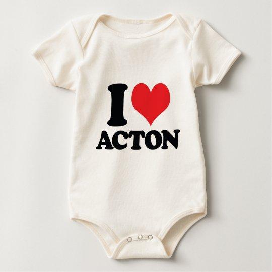 I Heart / love acton Baby Bodysuit