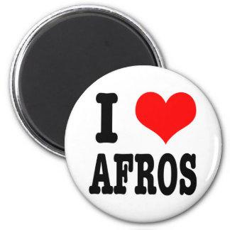 I HEART (LOVE) AFROS REFRIGERATOR MAGNET