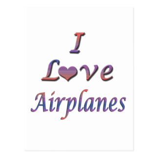 I Heart (Love) Airplanes  Postcard