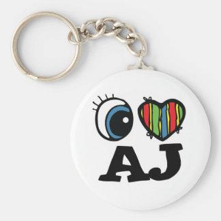 I Heart (Love) AJ Keychain
