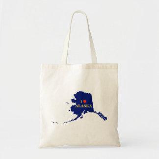 I Heart (Love) Alaska Canvas Bag