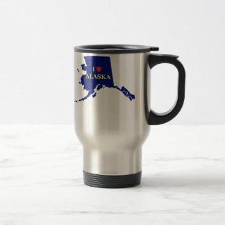 I Heart (Love) Alaska Travel Mug