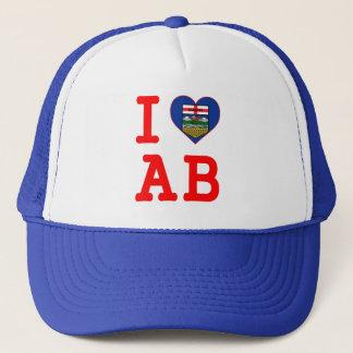 I HEART LOVE ALBERTA TRUCKER HAT
