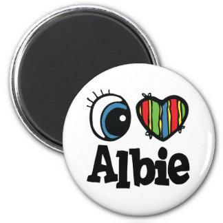 I Heart (Love) Albie Fridge Magnets
