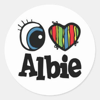 I Heart (Love) Albie Stickers