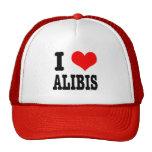 I HEART (LOVE) ALIBIS TRUCKER HAT