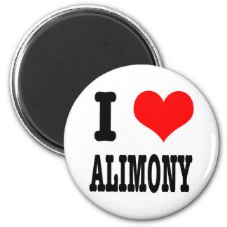 I HEART (LOVE) ALIMONY 2 INCH ROUND MAGNET