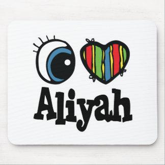 I Heart (Love) Aliyah Mouse Pad