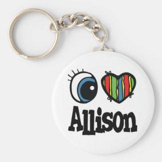 I Heart (Love) Allison Keychains