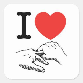 I Heart (Love) Anal Square Sticker