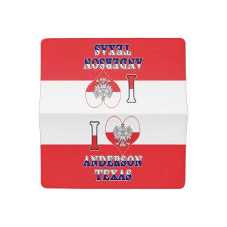 I Heart Love Anderson Texas Checkbook Cover