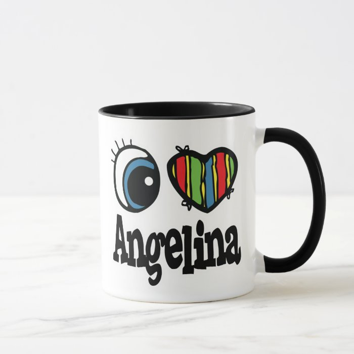 I Heart (Love) Angelina Mug