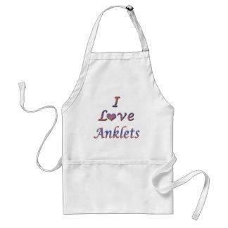 I Heart (Love) Anklets Adult Apron