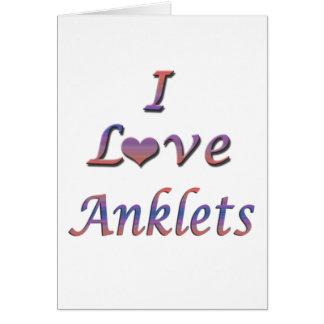 I Heart (Love) Anklets Card