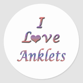 I Heart (Love) Anklets Classic Round Sticker