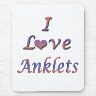 I Heart (Love) Anklets Mouse Pad