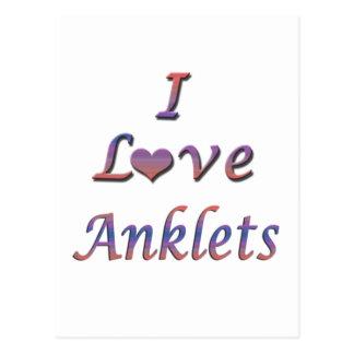 I Heart (Love) Anklets Postcard