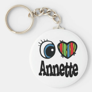 I Heart Love Annette Key Chains