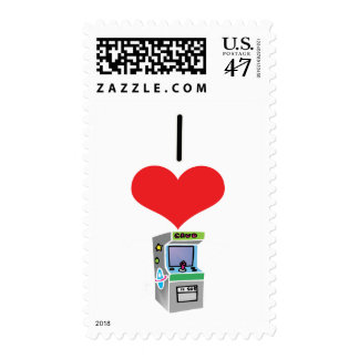 I Heart (Love) Arcade Games Postage
