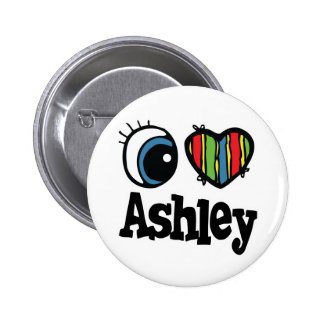 I Heart (Love) Ashley Pinback Buttons
