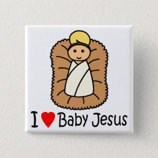 I Heart (Love) Baby Jesus Button