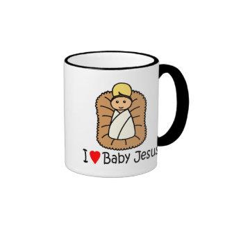 I Heart (Love) Baby Jesus Coffee Mugs