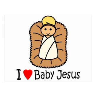 I Heart (Love) Baby Jesus Postcard