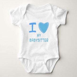 I Heart (Love) babysitter Baby Bodysuit