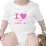I Heart (Love) babysitter Baby Creeper