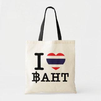 I Heart (Love) Baht Canvas Bag