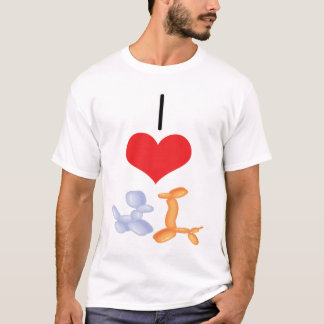 I Heart (Love) Balloon Animals T-Shirt