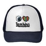 I Heart (Love) Bambino Hats