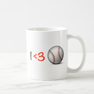 I heart & love baseball coffee mug