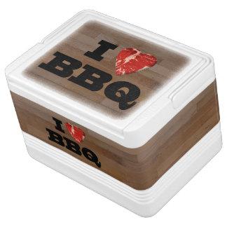 I Heart Love BBQ Steak Barbeque Tailgate Cooler
