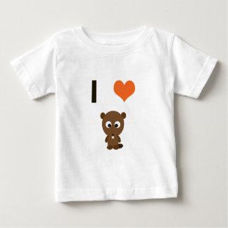 I heart (love)  Beavers Baby T-Shirt
