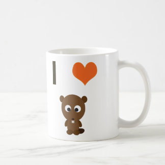 I heart (love)  Beavers Coffee Mug