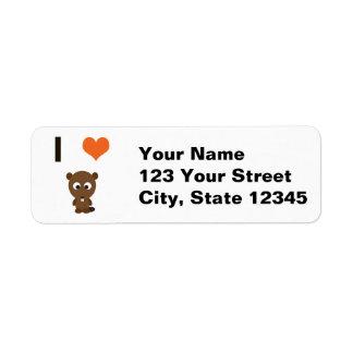 I heart (love)  Beavers Label