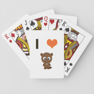 I heart (love)  Beavers Playing Cards