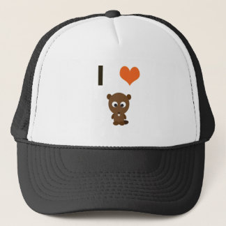 I heart (love)  Beavers Trucker Hat