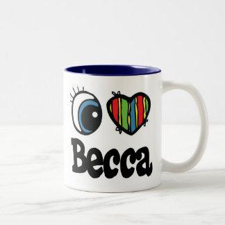 I Heart (Love) Becca Two-Tone Coffee Mug