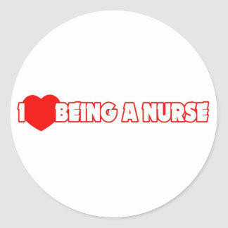 I Heart Love Being A Nurse Stickers
