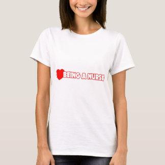 I Heart (Love) Being A Nurse T-Shirt