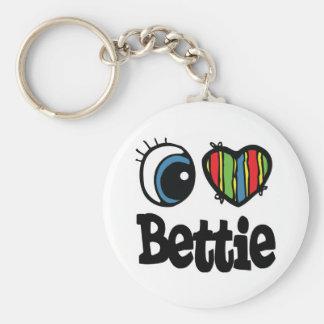 I Heart (Love) Bettie Keychain