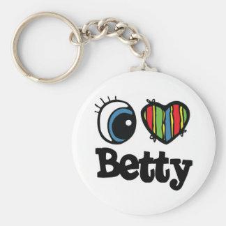 I Heart (Love) Betty Key Chain