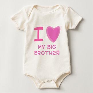 I Heart (Love) big brother Baby Bodysuit