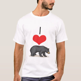 I Heart (Love) Black Bears T-Shirt
