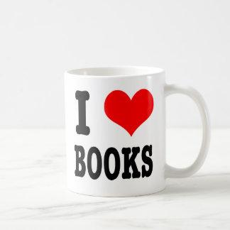 I HEART (LOVE) BOOKS COFFEE MUG