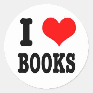 I HEART (LOVE) BOOKS STICKER